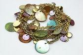Gold jewelery chain — Stock Photo
