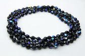 Black shining bracelet/necklace — Stock Photo