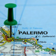 Royalty-Free Stock Photo: Push pin pointing at Palermo, Sicily