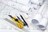 Herramientas y planes de arquitectura — Foto de Stock
