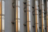 Metal pipes of a ventilation system — Stock Photo