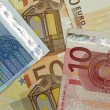 Stock Photo: Background of euro bills