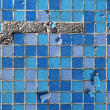 Blue destroyed mosaic background — Stock Photo #24757687