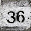 Thirty-six number — Stock Photo