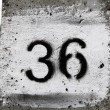 Thirty-six number — Stockfoto