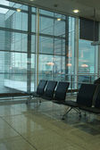 Departure lounge at the munich airport — Stock Photo