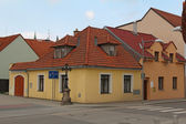 Typical architecture in Trebon, Czech Republic — Stock Photo