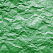 Stock Photo: Green crumpled paper