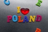 I love poland sign — Stok fotoğraf