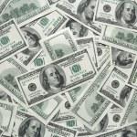One hundred dollars background — Stock Photo