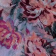 Beautiful flowers pattern on fabric — Stock Photo