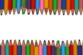 Background with colorful pencils. isolated on white with copyspa — Stock Photo