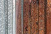 Rusty corrugated iron metal texture — Stock Photo
