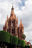 St Michael Cathedral- San Miguel de Allende, Mexico — Stock Photo