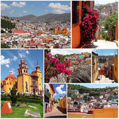 набор фотографий из красочный город гуанахуато в мексике — Стоковое фото