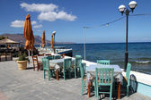 Restaurant on the sea shore in Crete, Greece — Stockfoto