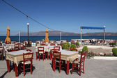 Restaurant on the seaside in Crete, Greece — Stock Photo
