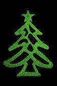 Green shiny Christmas Tree — Stock Photo