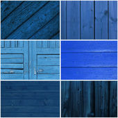 Collection of blue wood background — Stock Photo