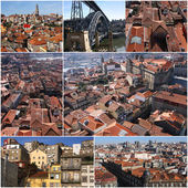 Set of photo from Porto in Portugal — Stock Photo