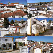 Collection of photos from portuguese medieval town- Obidos — Foto Stock