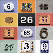 Collection of colorful house numbers — Foto Stock
