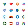 Set of abstract, colorful icons — Stock Vector