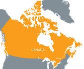 Orange map of Canada — Stock Vector