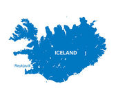 Blue map of Iceland — Stock Vector