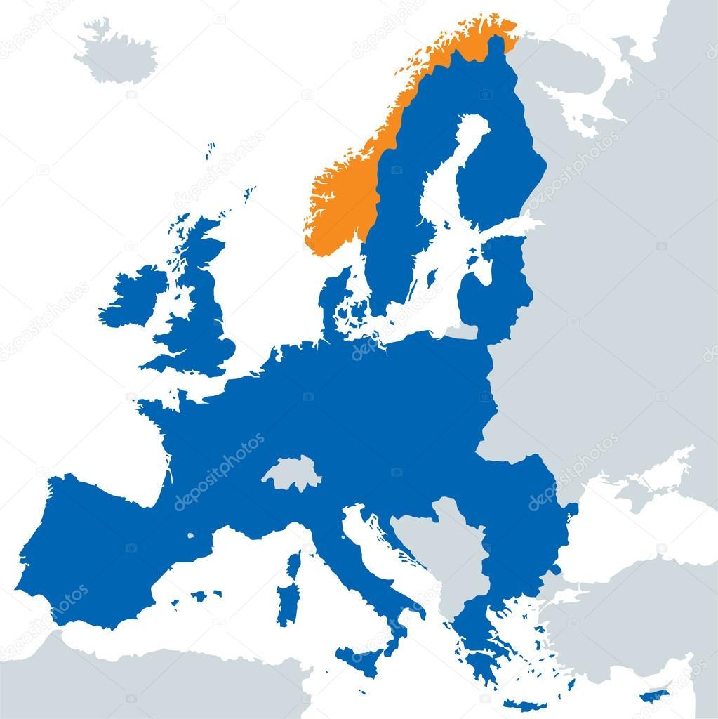 mapa evropsk