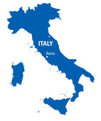 Blue map of Italy — Stock Vector