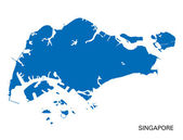 Blue map of Singapore — Stock Vector