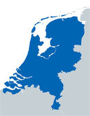 Blue map of Netherlands — Vecteur