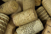 Closeup of heap of wine corks — Stockfoto
