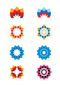 Set of flower abstract logos. Icons for any type of business — Stock Vector