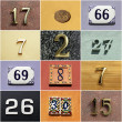 Collection of colorful house numbers — Stock Photo