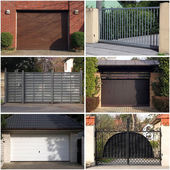 Collection of modern gates — Stock Photo