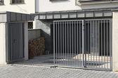 Modern metal gate — Stock Photo