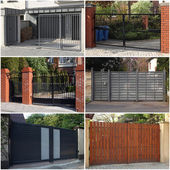 Collection of gates — Stock Photo