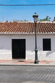 Front side of typical spanish house — Stock Photo
