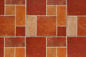 Mosaic of brown tiles background — Stock Photo