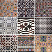Set of traditional spanish ceramic tiles — Stock Photo