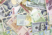 Different foreign currency background- concept of exchange rate — Stock Photo