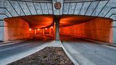 Oranžové parkovací zde — Stock fotografie