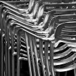 Metal chairs — 图库照片