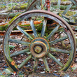 Old wagon wheel — Foto Stock