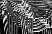Metal chairs — Stock Photo