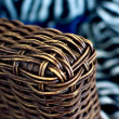 Wicker and zebra — Stock Photo