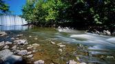 Flussabwärts — Stockfoto