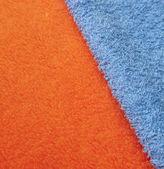 Orange and Blue Cloth Texture — Stock Photo